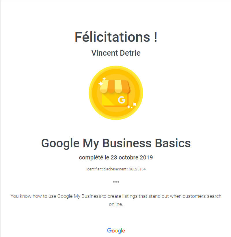 Basics Google My Business Formation Certification Digital Web Marketing Nice
